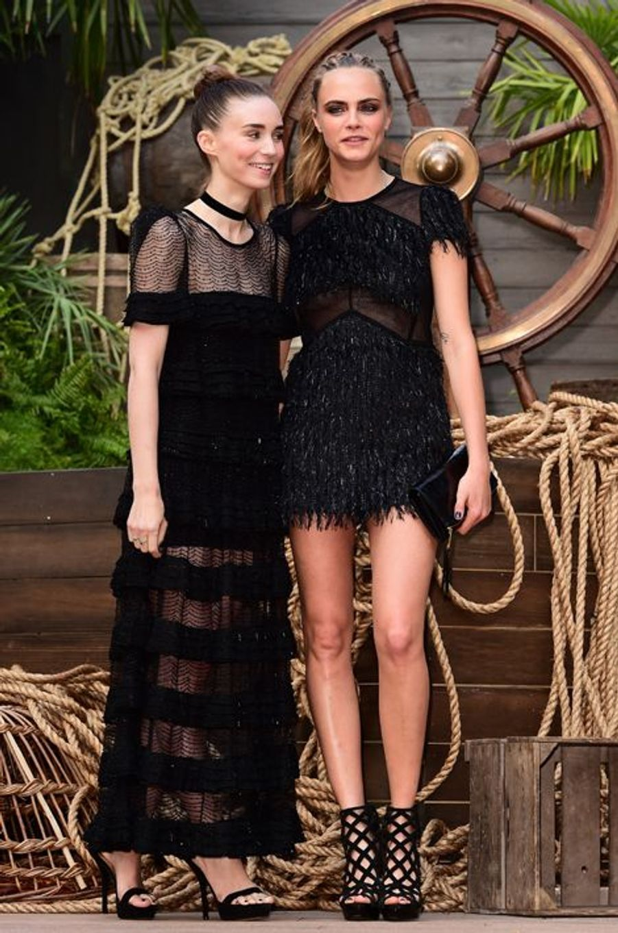 Rooney Mara et Cara Delevingne à Londres le 20 septembre 2015