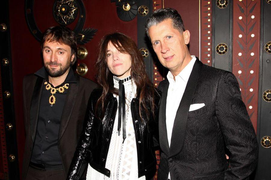 Francesco Vezzoli, Stefano Tonchi et Charlotte Gainsbourg à New York le 4 novembre 2014