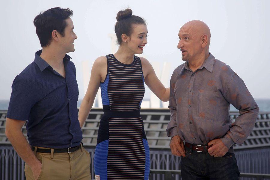 Joseph Gordon-Levitt, Charlotte Le Bon et Ben Kingsley à Cancun le 15 juin 2015