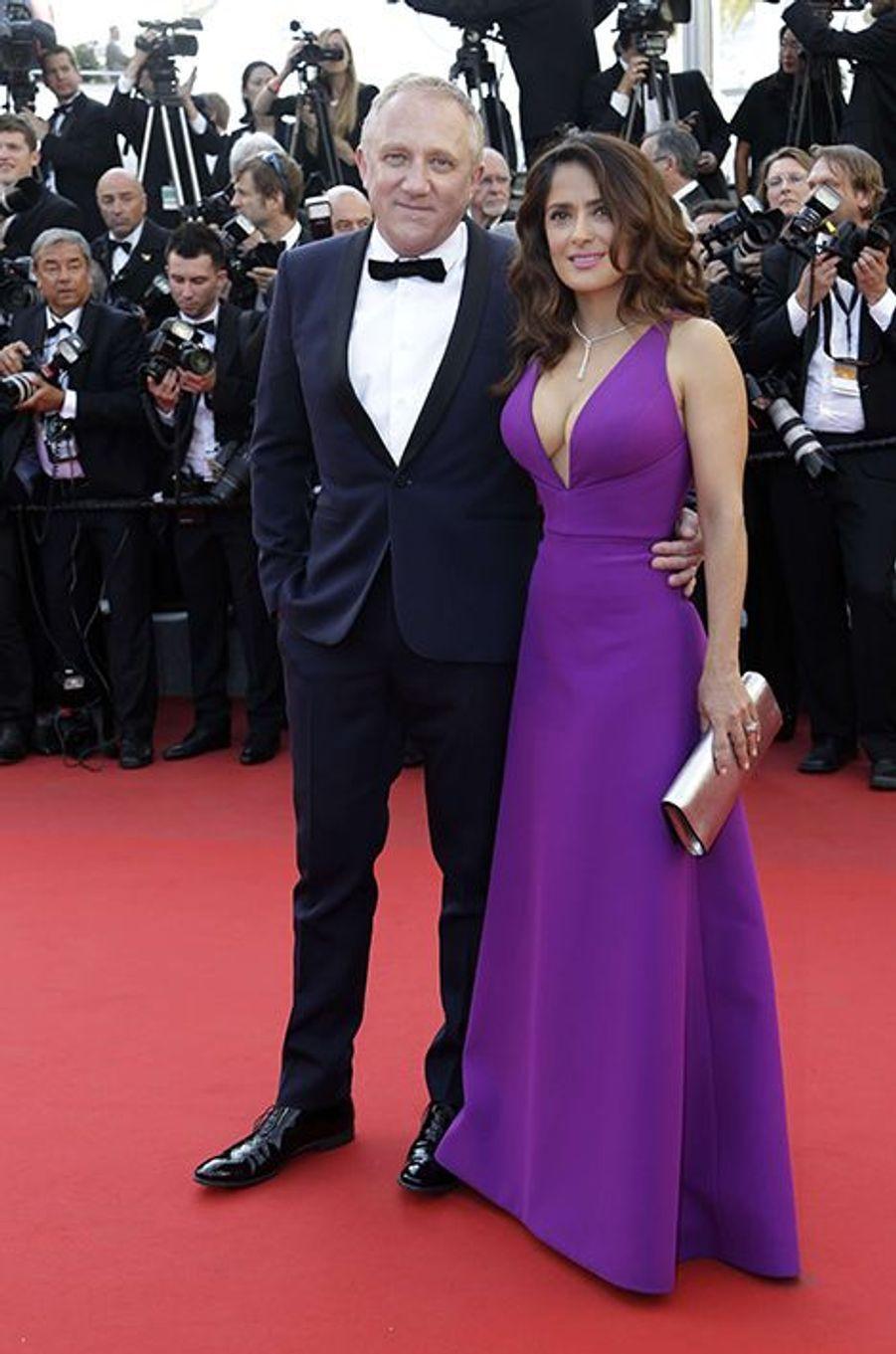 François-Henri Pinault et Salma Hayek à Cannes le 17 mai 2015