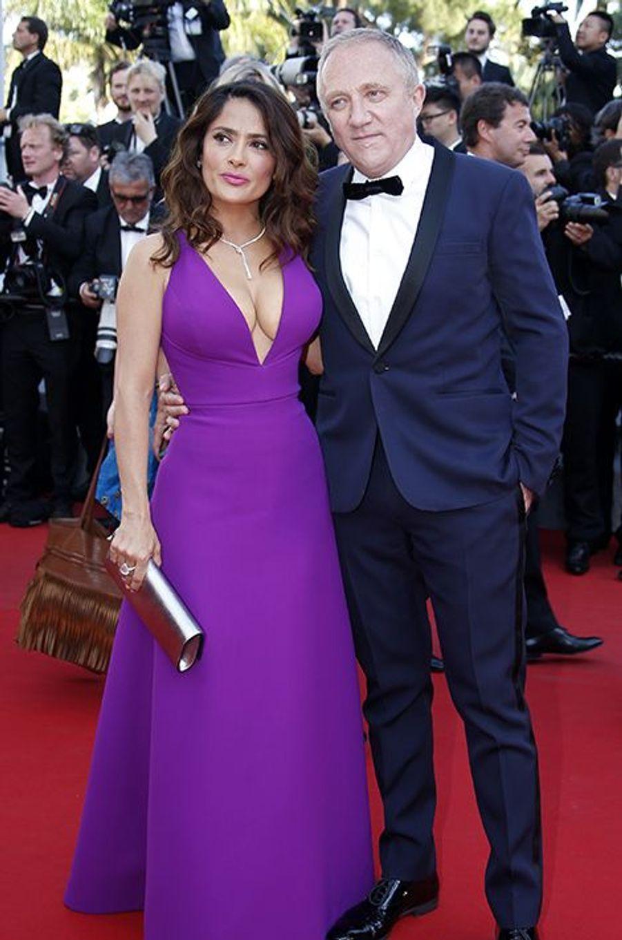 Salma Hayek et François-Henri Pinault à Cannes le 17 mai 2015