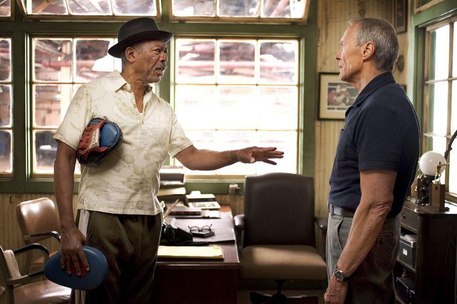 """3 - """"Million Dollar Baby"""", avec Morgan Freeman. Sorti en 2004, le film a récolté 216 millions de dollars au box-office mondial"""