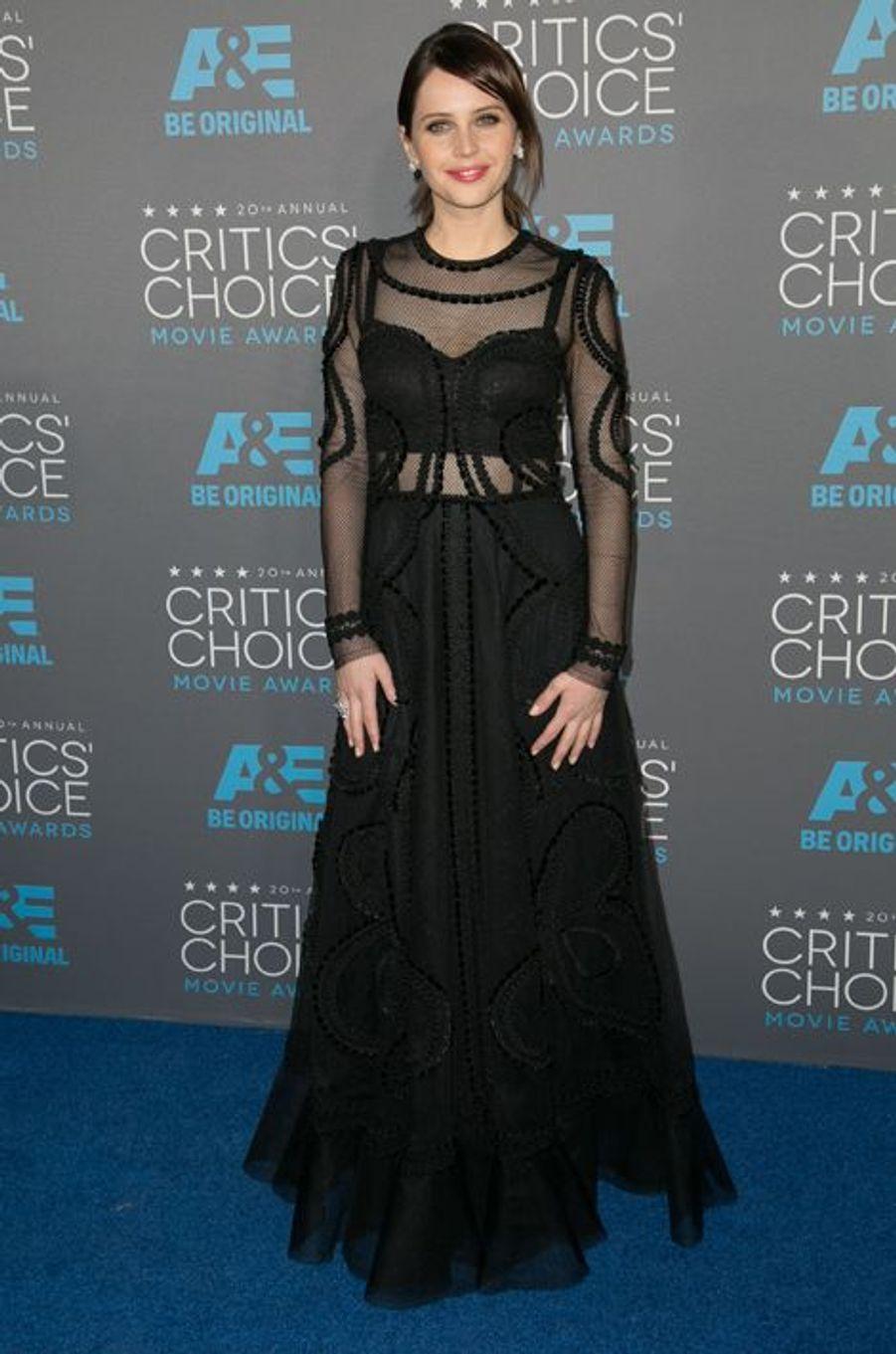 Felicity Jones à Los Angeles le 15 janvier 2014