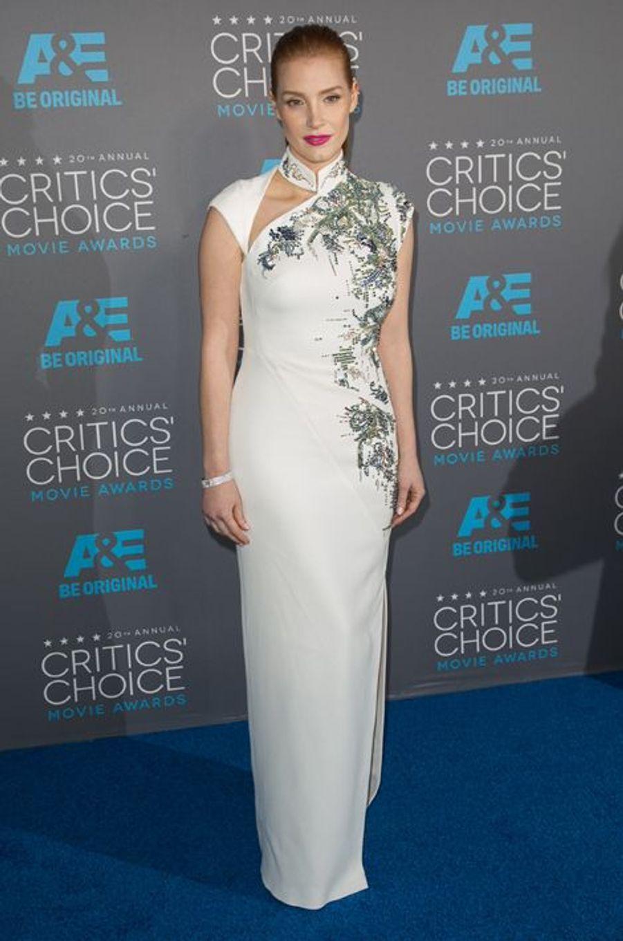 Jessica Chastain à Los Angeles le 15 janvier 2014