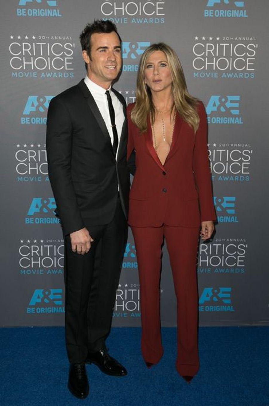Justin Theroux et Jennifer Aniston à Los Angeles le 15 janvier 2014