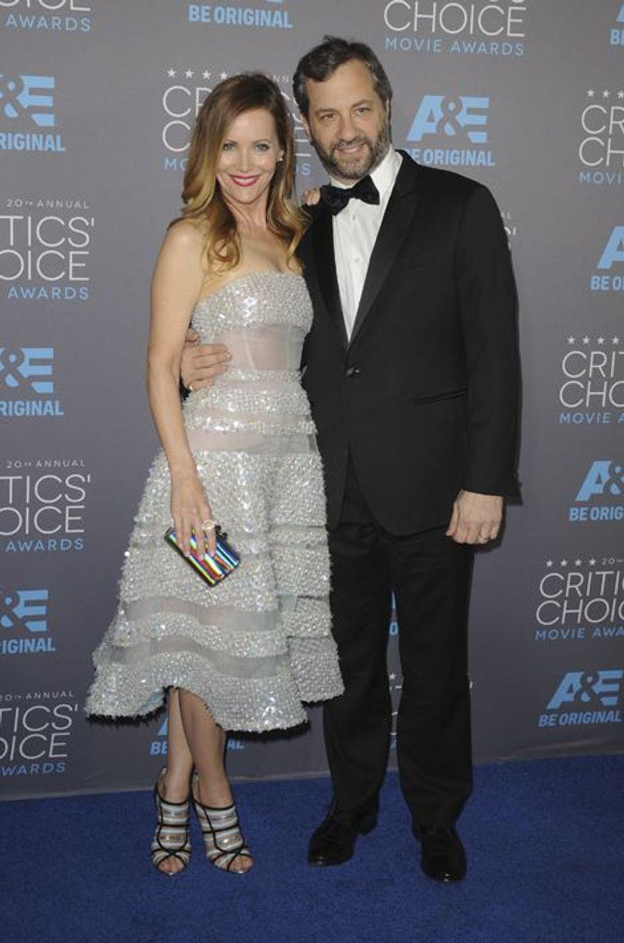 Leslie Mann et Judd Apatow à Los Angeles le 15 janvier 2014