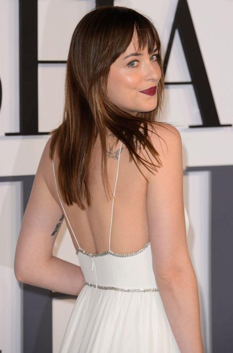 Dakota Johnson à Londres le 12 février 2015
