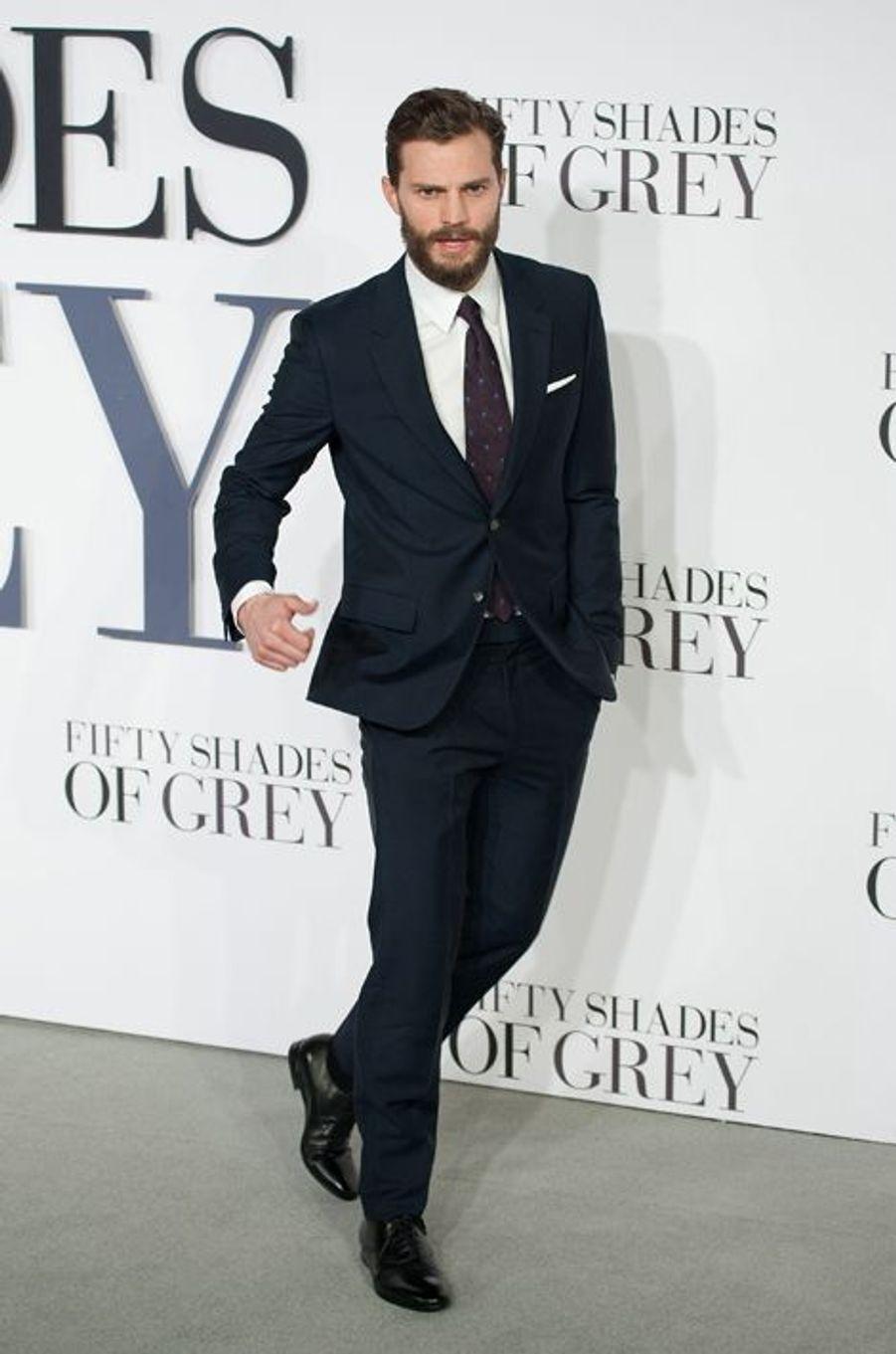 Jamie Dornan à Londres le 12 février 2015