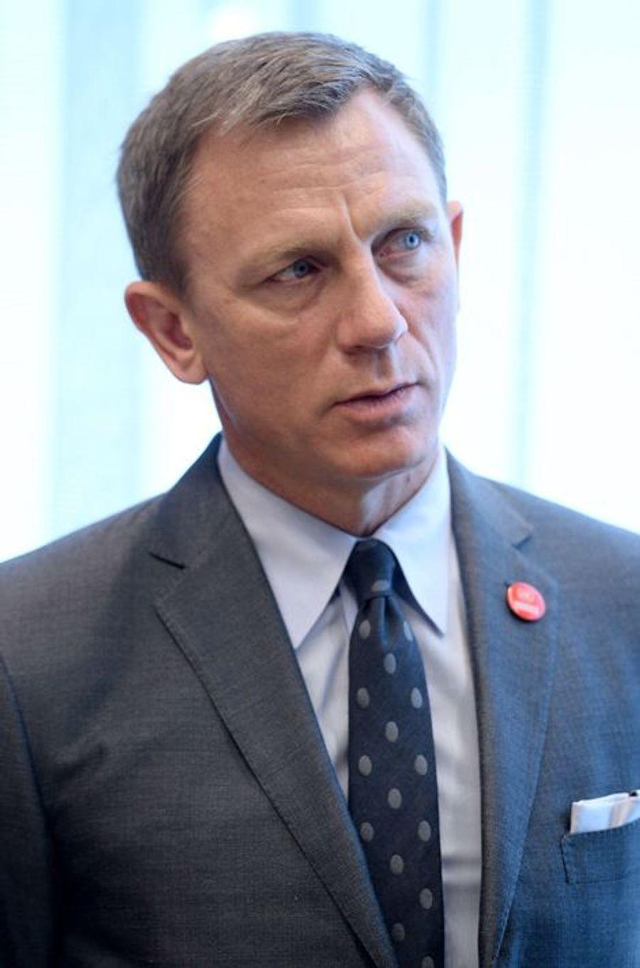 Daniel Craig à New York le 14 avril 2015