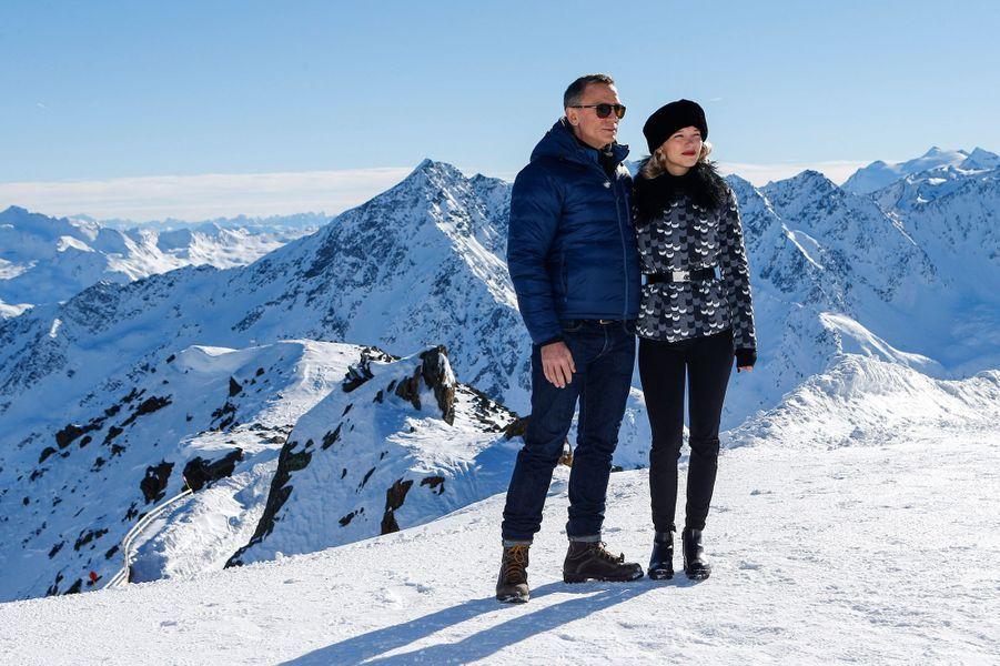 """Daniel Craig et Léa Seydoux en pleine promotion pour """"Spectre"""""""