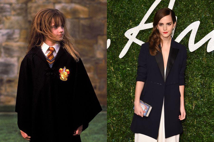 La saga a définitivement lancé la carrière de la très jeune Emma Watson qui n'a que 9 ans lorsqu'elle est choisie pour incarner Hermione Granger dans«Harry Potter à l'école des sorciers». Avoir avoir occupé l'un des rôles principaux tout au long des films jusqu'en 2011, l'actrice a notamment pu jouer devant la caméra de Sofia Coppola pour le film «The Bling Ring» en 2013. Prochainement, cette ambassadrice de l'ONU et égérie Lancôme de 25 ans s'apprête à se glisser dans la peau de la Belle dans la nouvelle adaptation de Disney du classique «La Belle et la Bête».