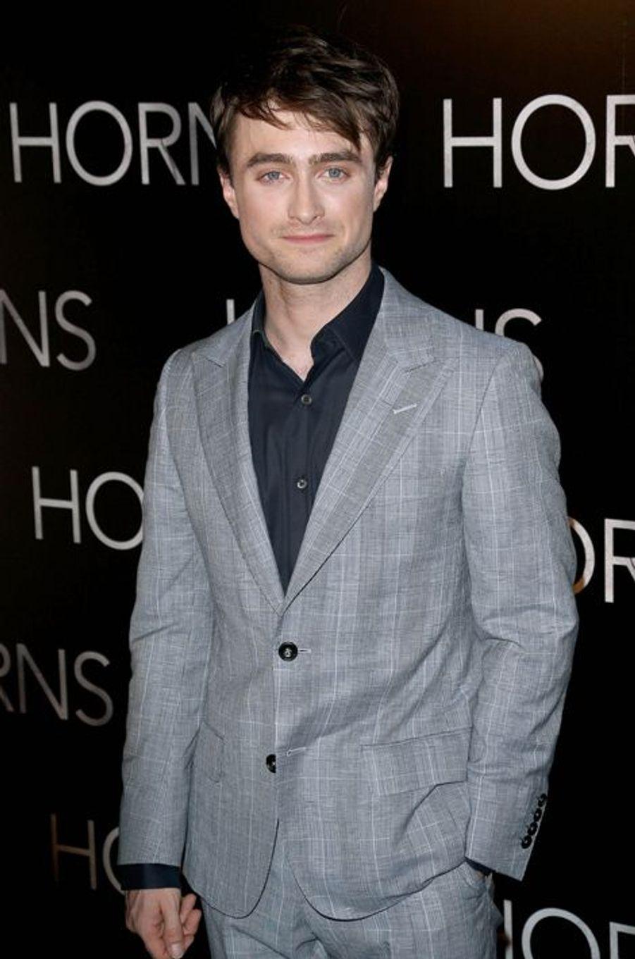 """Daniel Radcliffe à l'avant-première du film """"Horns"""" à Paris le 16 septembre 2014"""