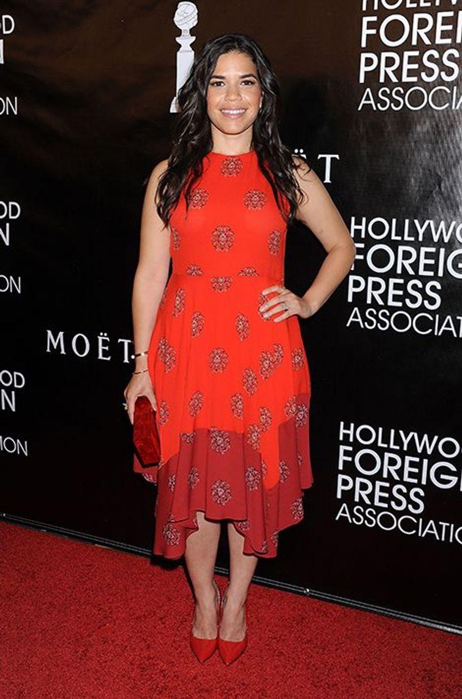 America Ferrera à Los Angeles le 13 août 2015