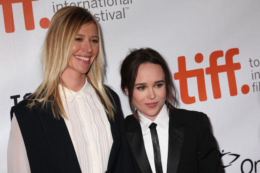 Samantha Thomas et Ellen Page à Toronto le 13 septembre 2015