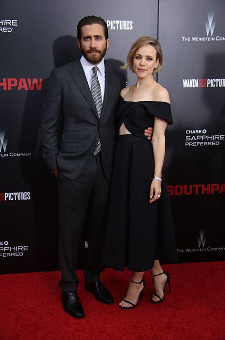 Jake Gyllenhaal et Rachel McAdams à New York le 20 juillet 2015