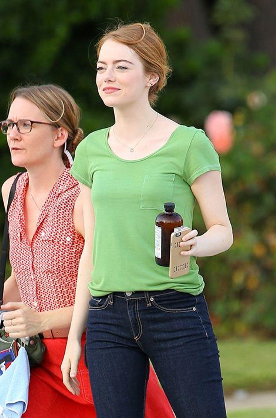 Emma Stone à Los Angeles le 18 août 2015
