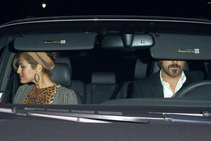 Eva Mendes et Ryan Gosling à Los Angeles le 17 janvier 2015