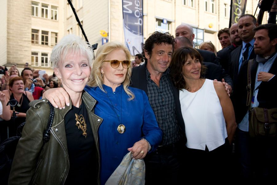 Tonie Marshall, Sophie Marceau, Patrick Bruel et Sylvie Vartan avant le film