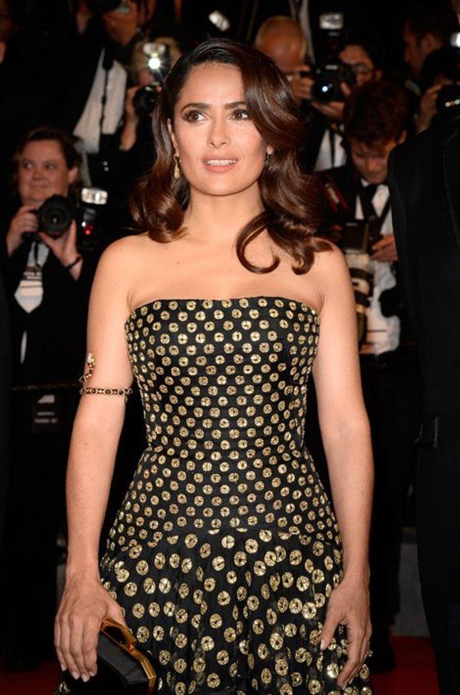 Salma Hayek à Cannes le 14 mai 2015