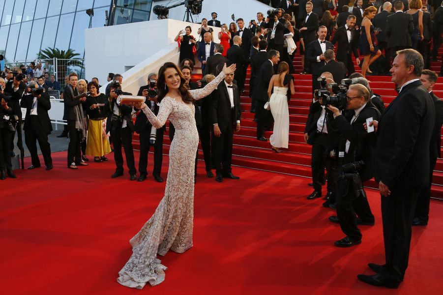 Andie MacDowell à Cannes le 16 mai 2015