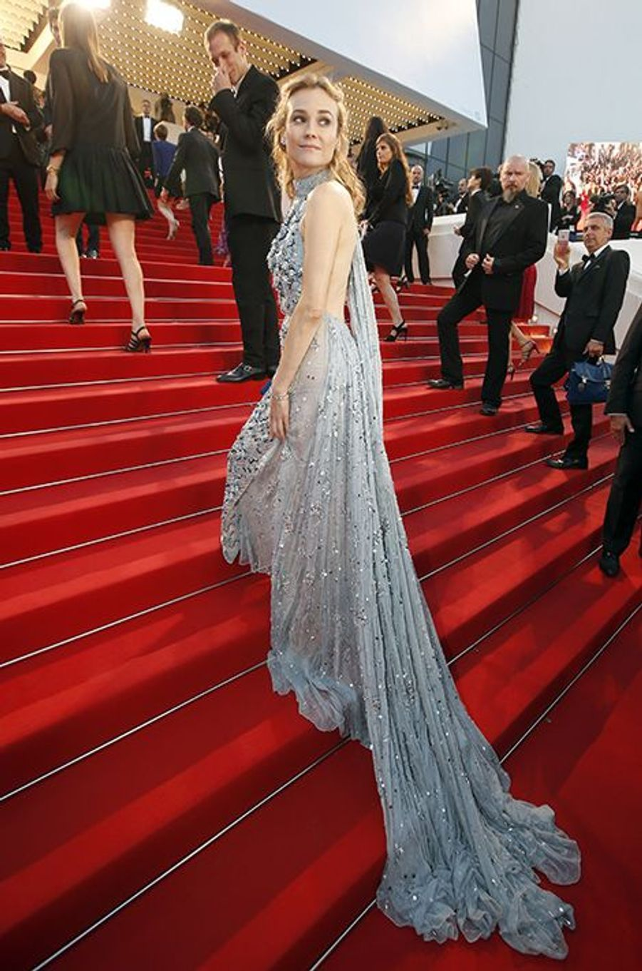 Diane Kruger, en Prada, à Cannes le 16 mai 2015