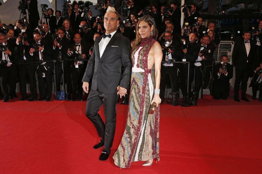 Robbie Williams et son épouse Ayda à Cannes le 16 mai 2015