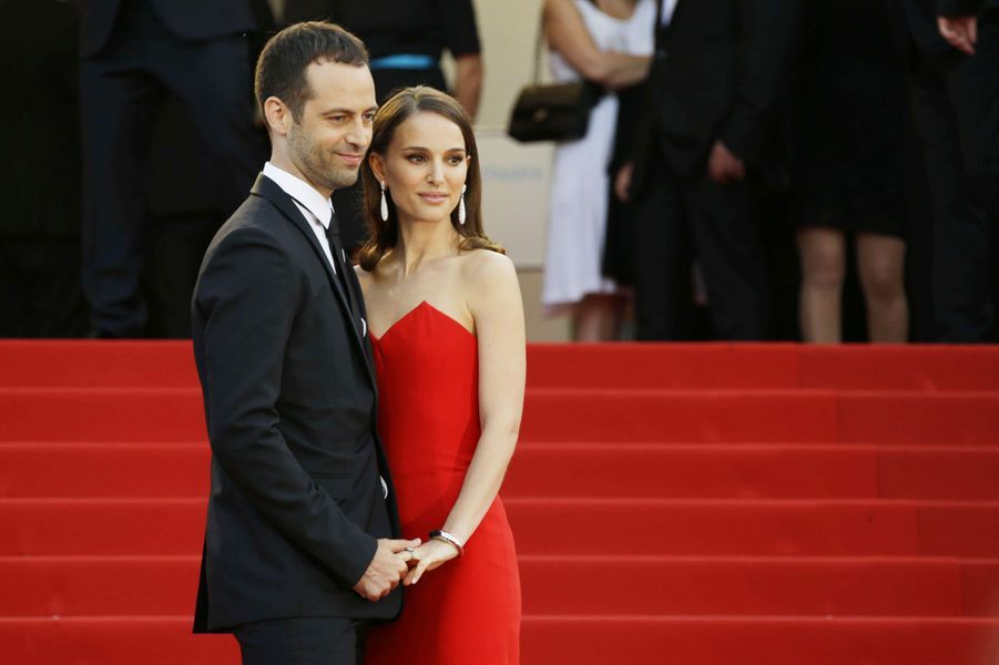 Natalie Portman et Benjamin Millepied à Cannes le 13 mai 2015