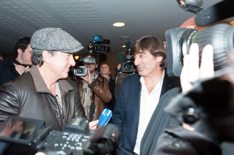 François Cluzet et Michel Neyret à Lyon le 16 décembre 2014