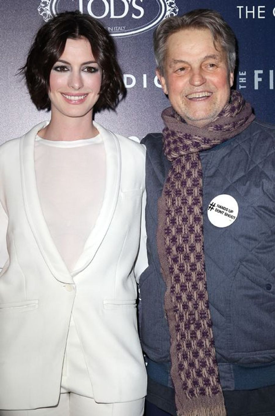 Anne Hathaway et Jonathan Demme à New York le 20 janvier 2015