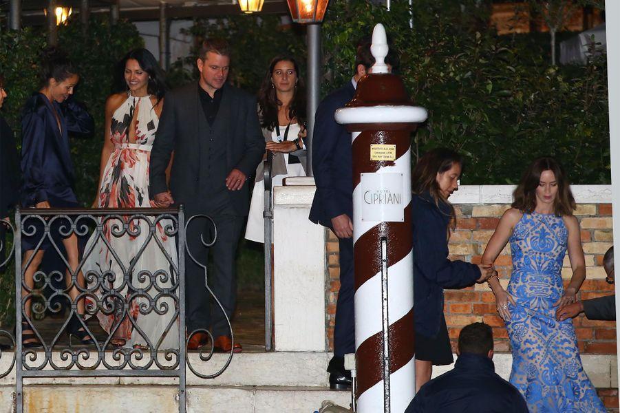 Emily Blunt et Matt Damon