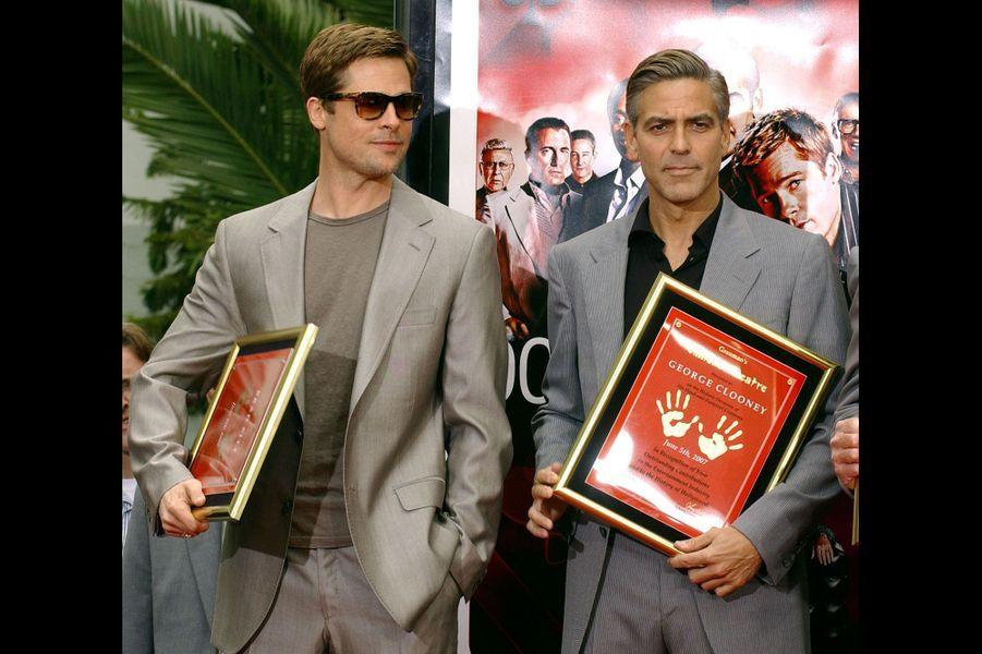 Après avoir déposé leurs empreintes de mains et de pieds sur Hollywood Boulevard en juin 2007.