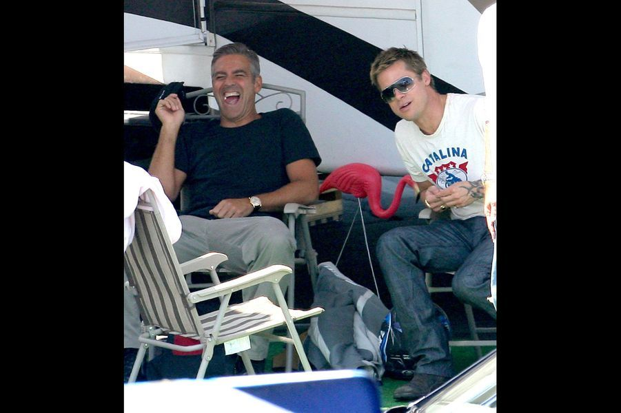 En pause sur le tournage d'«Ocean's Thirteen» en août 2006.