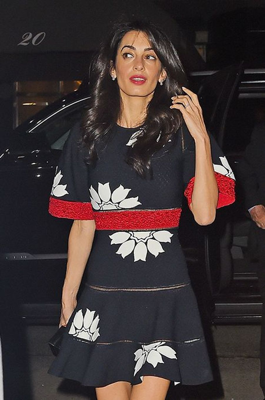 Amal Clooney à New York le 28 avril 2015