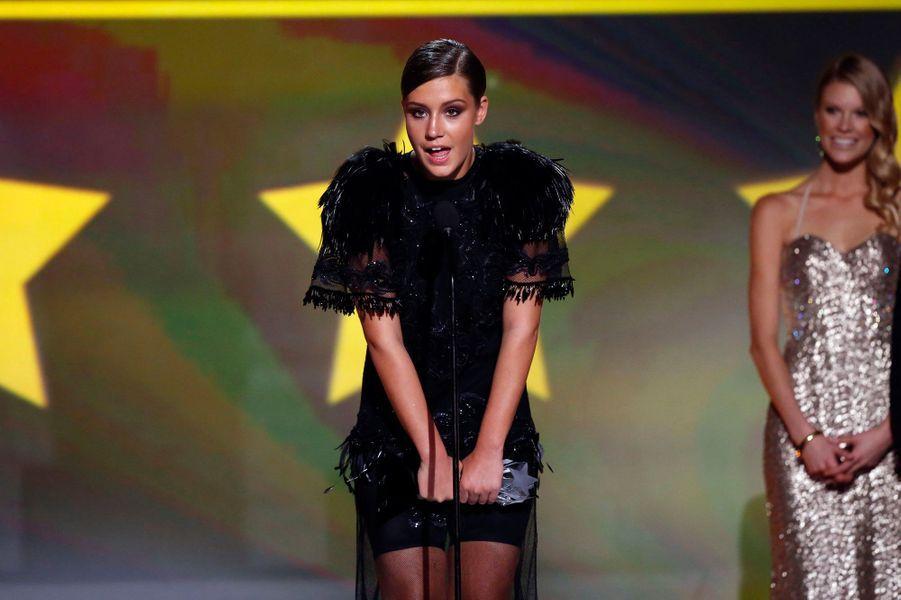 """La Française a remporté le prix de la meilleure jeune actrice pour """"La vie d'Adèle""""."""