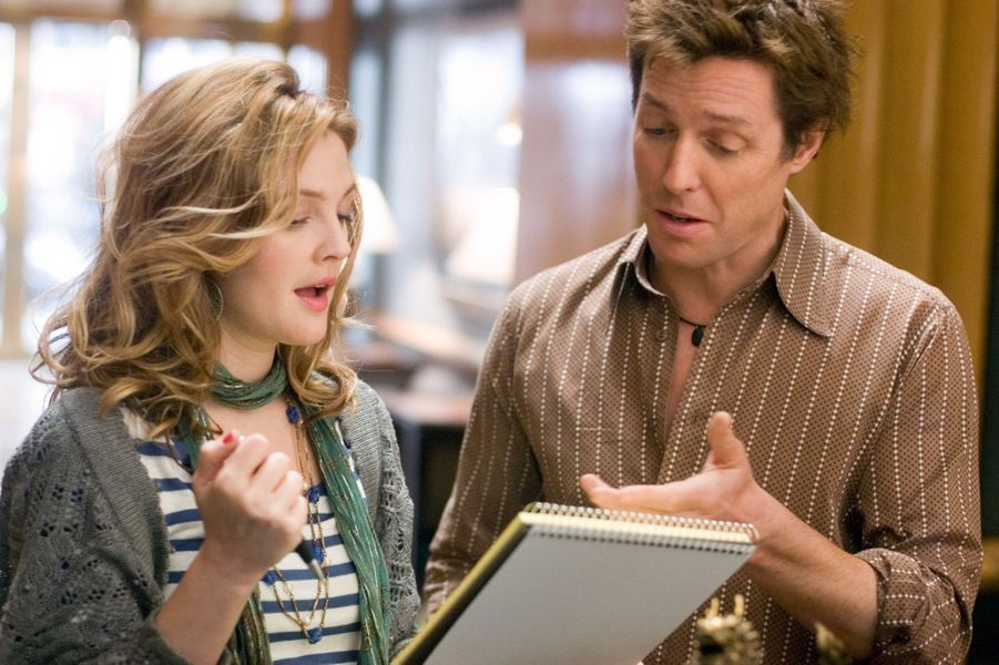 """Avec Drew Barrymore dans """"Le Come-Back"""" (2007)"""