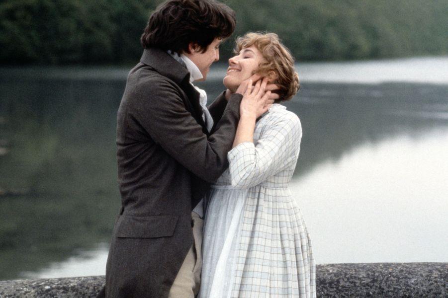 """Avec Emma Thompson dans """"Raison et sentiments"""" (1995)"""