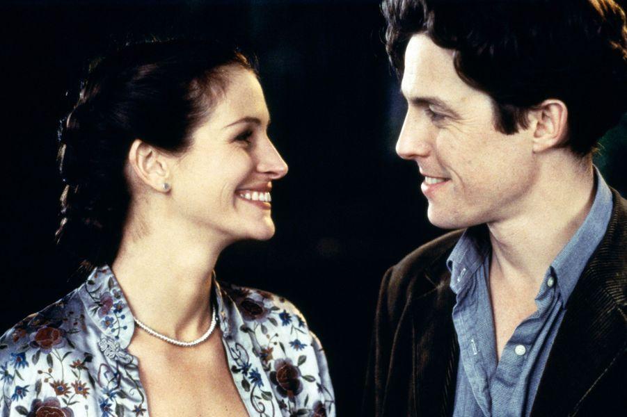 """Avec Julia Roberts dans """"Coup de foudre à Notting Hill"""" (1999)"""