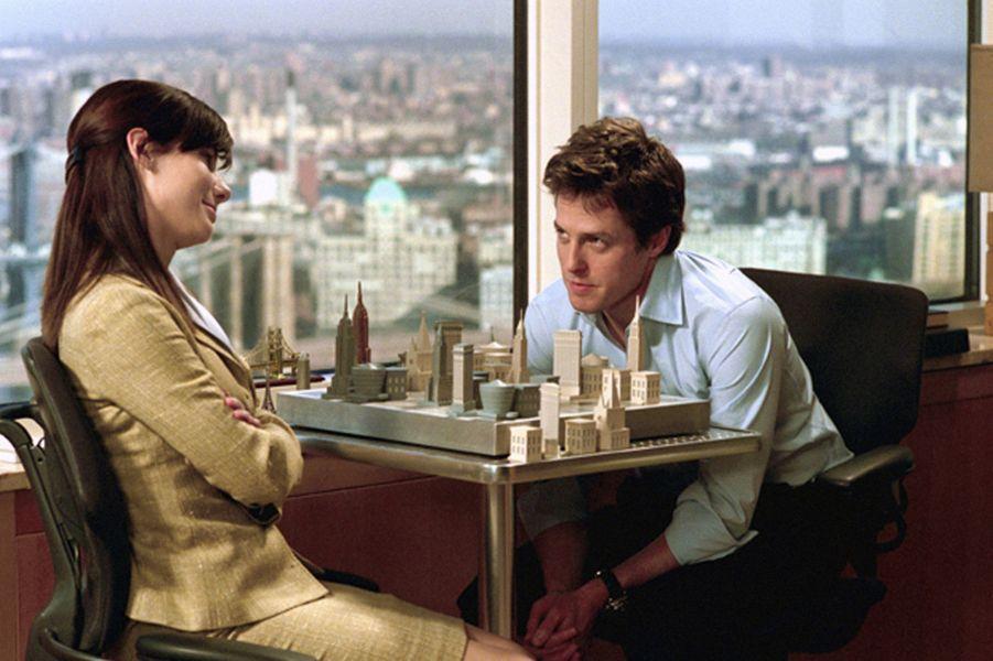 """Avec Sandra Bullock dans """"L'amour sans préavis"""" (2002)"""
