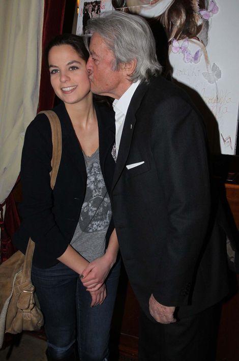 Alain avec sa fille Anouchka au Fouquet's, 2012