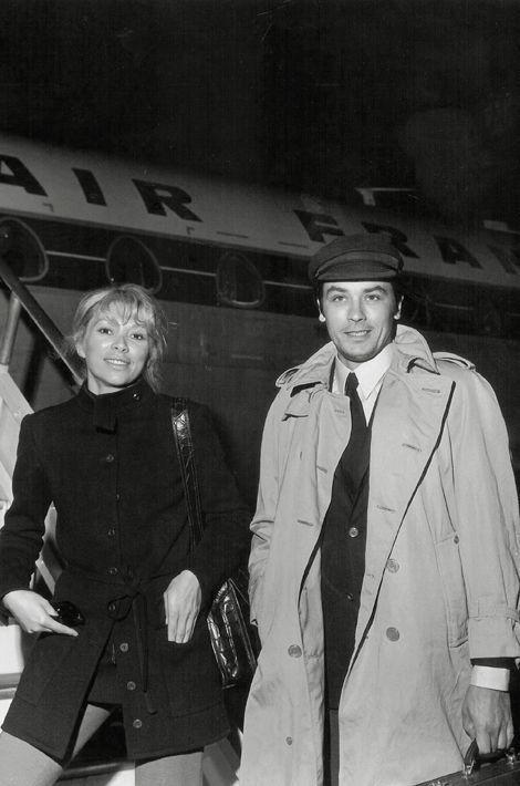 Avec Mireille Darc, en route vers Marseille, 1969