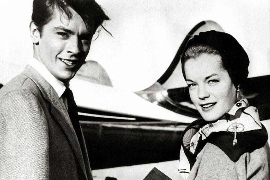 Avec Romy Schneider, 1960