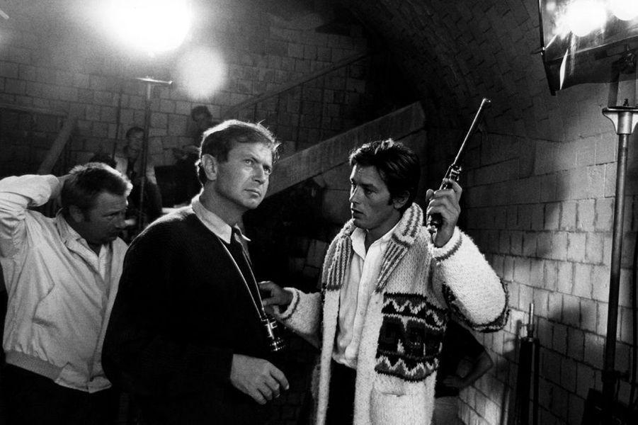 """Sur le tournage des """"Aventuriers"""", 1967"""