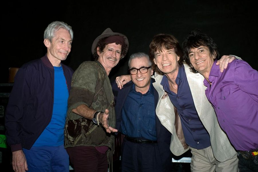 "Martin Scorsese avec les Rolling Stones pour ""Shine a Light"", 2008"