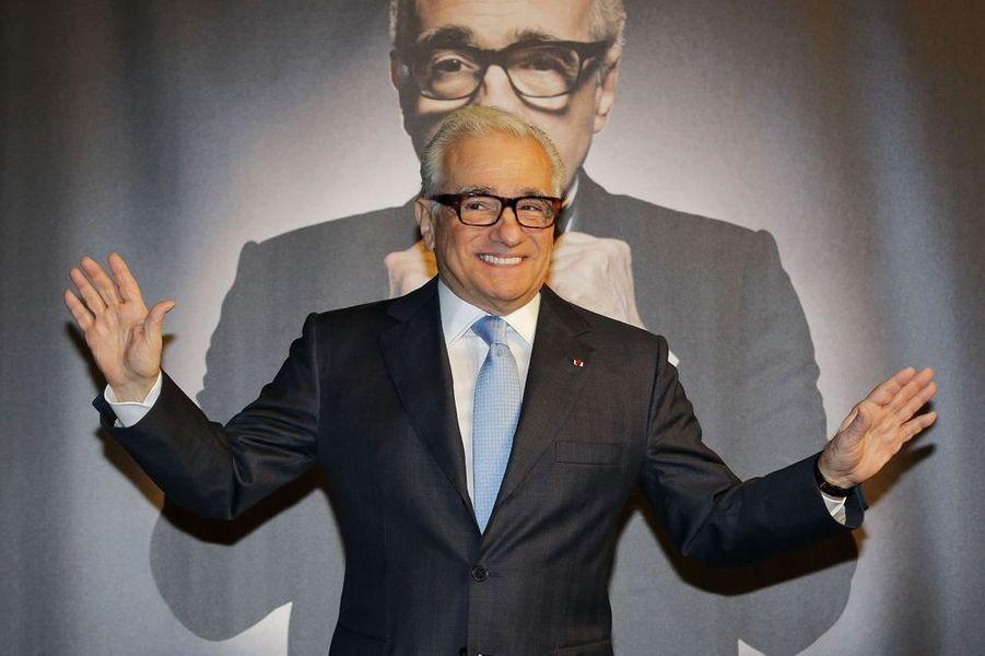 Martin Scorsese reçoit le prix Lumière, à Lyon, le 17 octobre 2015