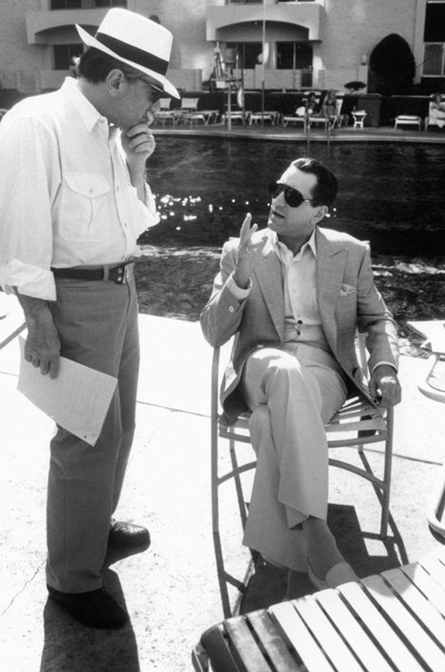 """Sur le tournage de """"Casino"""" avec Robert De Niro, 1995"""