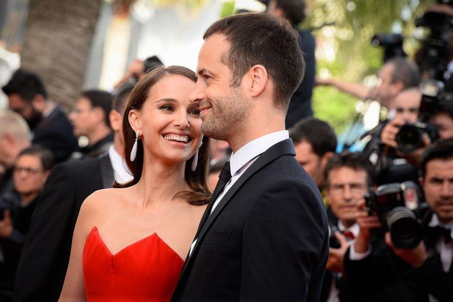 Benjamin Millepied et Natalie Portman au 68e Festival de Cannes, 13 mai 2015