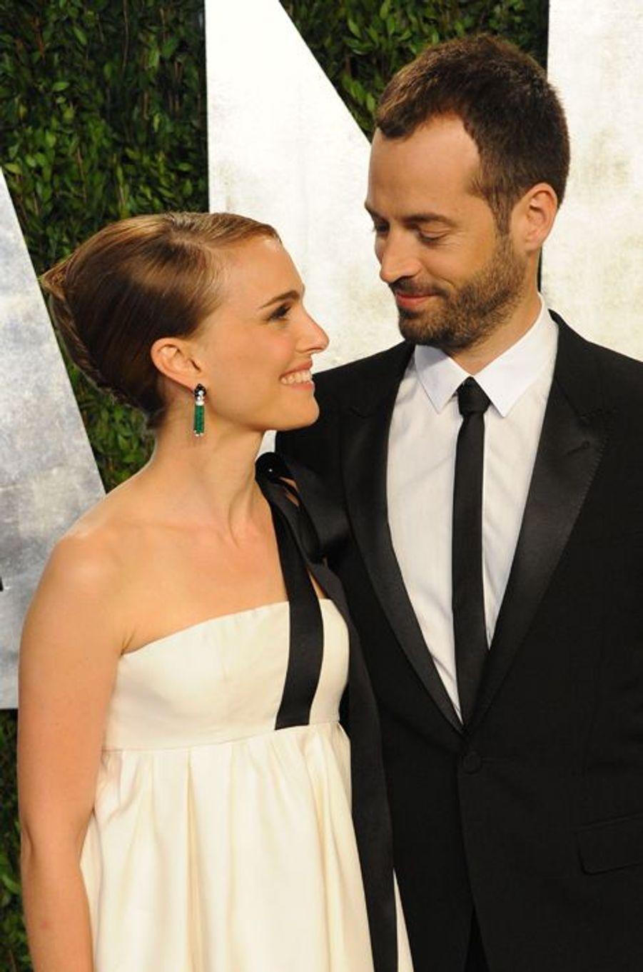 Natalie Portman et Benjamin Millepied à la soirée Vanity Fair, le 24 février 2013