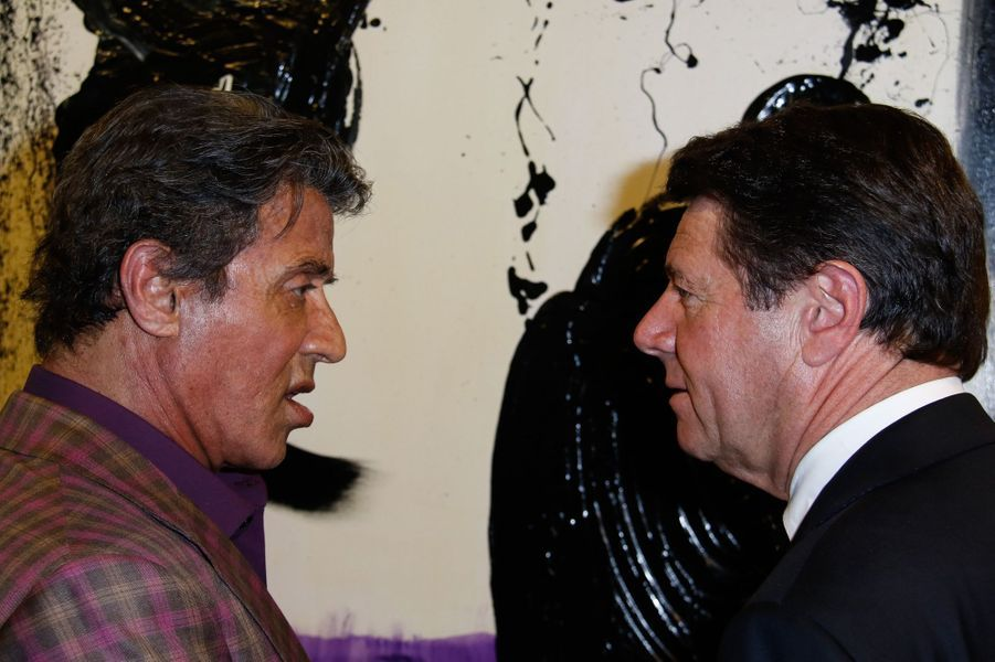 Sylvester Stallone expose ses toiles à Nice