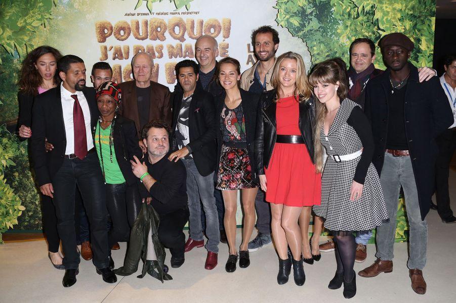 """L'équipe du film """"Pourquoi j'ai pas mangé mon père"""" à Paris le 29 mars 2015"""