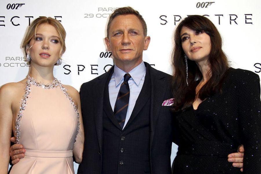 """Avant-première de """"Spectre"""", à Paris, le 29 octobre 2015"""